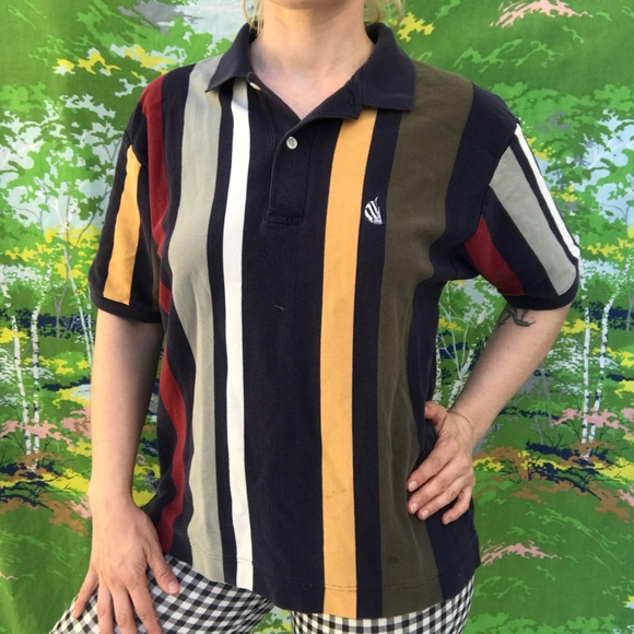 d1707f4871241 vintage 90s nautica striped polo shirt SMALL
